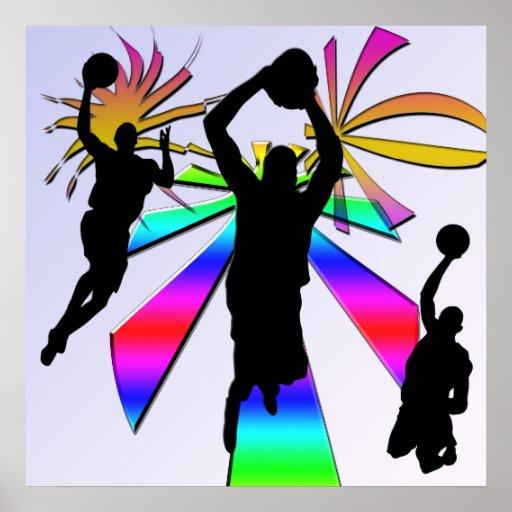 Poster del baloncesto de la clavada