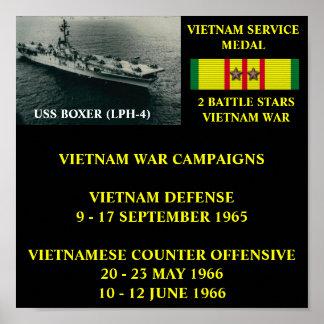 POSTER DEL BOXEADOR DE USS (LPH-4)