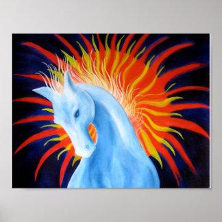 Poster del caballo del alcohol póster