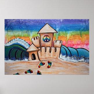 Poster del castillo de la arena del Hippie