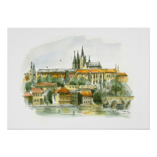 Poster del castillo de Praga Póster