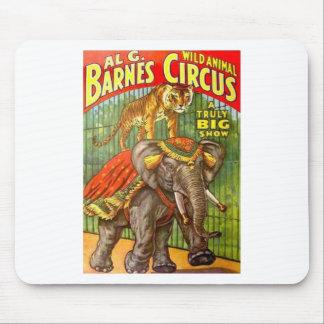 Poster del circo alfombrilla de ratón