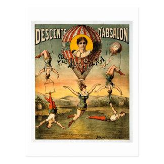 Poster del circo de Srta. Stena Flying Trapese Postal