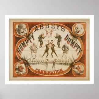 Poster del circo del vintage