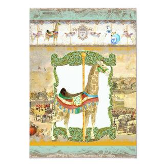 Poster del circo del vintage, fiesta de cumpleaños invitación 12,7 x 17,8 cm