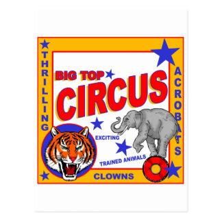 Poster del circo del vintage postal