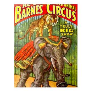 Poster del circo postal