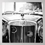 Poster del coche del vintage