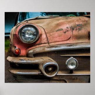 Poster del coche del vintage póster