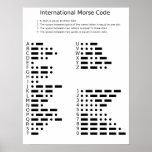 Poster del código Morse internacional