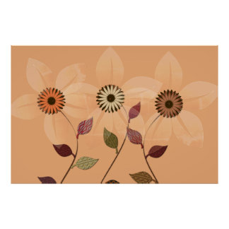 Poster del collage del otoño del extracto de la póster