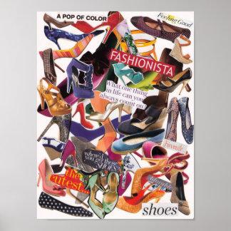 Poster del collage del zapato