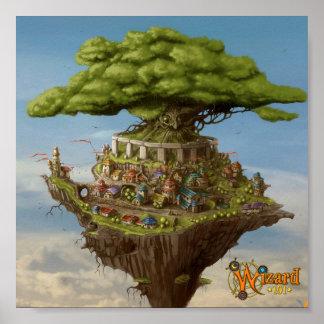 Poster del concepto de la ciudad del mago Wizard10