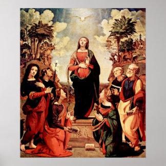 Poster del concepto del Virgen María