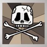 ¡Poster del cráneo y del hueso de la cruz!