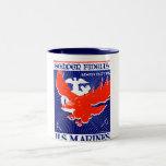 Poster del Cuerpo del Marines de WWII Taza De Café