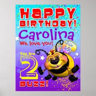"""poster del cumpleaños de 18 x24 """"GiggleBellies"""