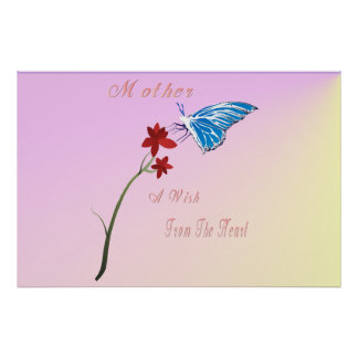 Poster del deseo del día de madres