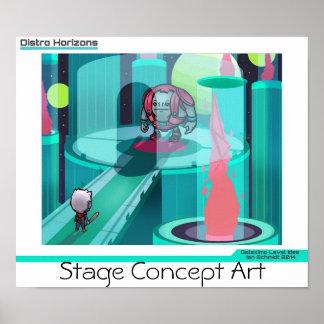 """""""Poster del diseño de la etapa de los horizontes d Póster"""