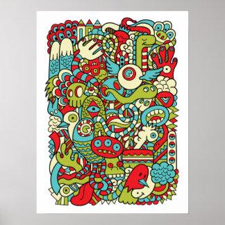 Poster del Doodle del inconformista de la diversió
