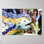 Poster del dragón de Guell del parque