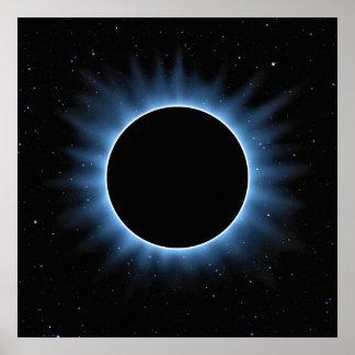Poster del eclipse solar póster