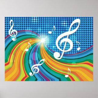 Poster del ejemplo de la música póster