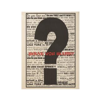 poster del ejemplo del signo de interrogación