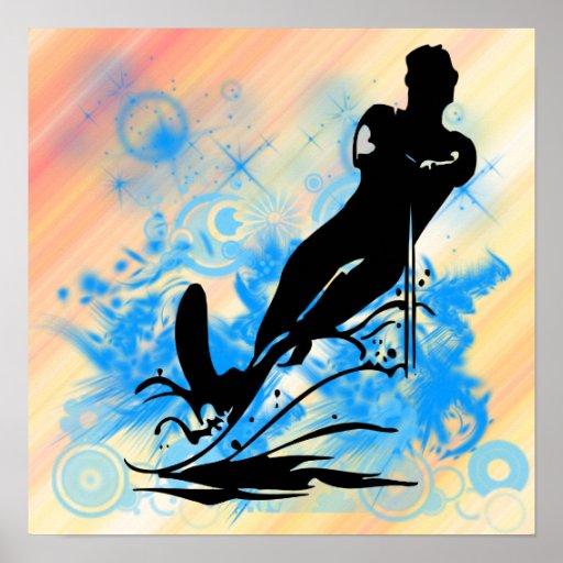 Poster del esquí acuático