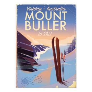 Poster del esquí del vintage de Buller Australia Foto