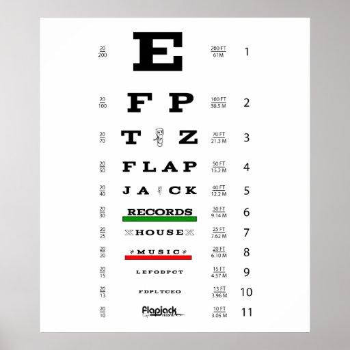 Poster del examen de la vista del Flapjack