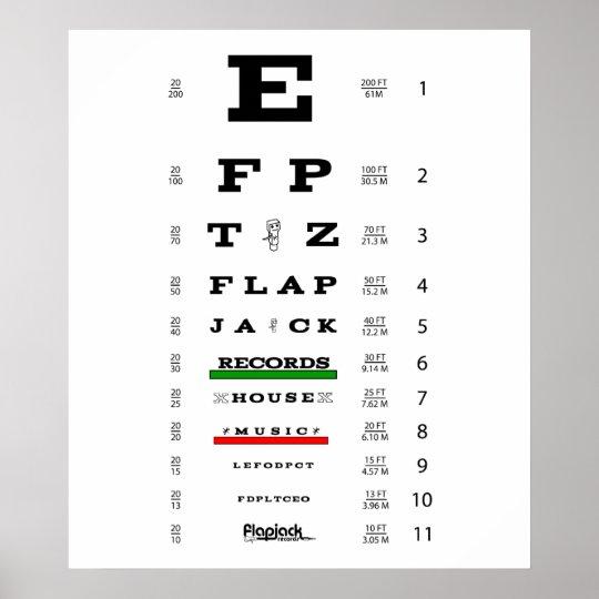 Poster del examen de la vista del Flapjack Póster