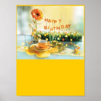 Poster del feliz cumpleaños póster