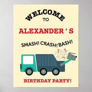 Poster del fiesta de la recepción del cumpleaños póster