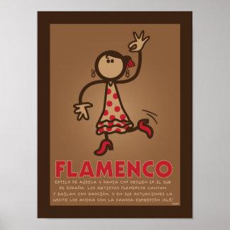 Poster del FLAMENCO (español del en del versión)