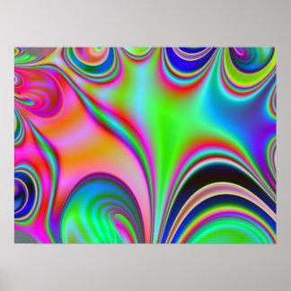 Poster del fractal del Hippie del arco iris