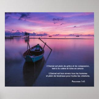 Poster (del francés). Sereno púrpura del salmo 145 Póster