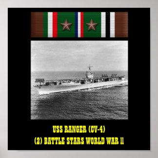 POSTER DEL GUARDABOSQUES DE USS (CV-4)