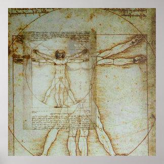 Poster del hombre de Vitruvian Póster