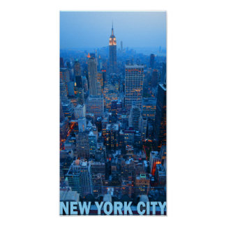 Poster del horizonte de New York City (estado del Póster