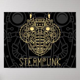 Poster del icono del símbolo del vapor póster