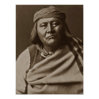 Poster del indio del nativo americano de Cha Cah T
