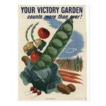 Poster del jardín de victoria, guerra mundial 2 19 postales
