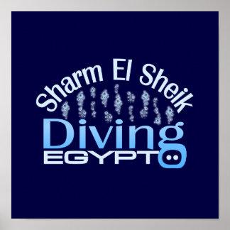 Poster del JEQUE del EL de SHARM, personalizar