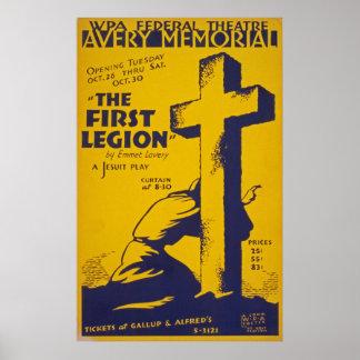 Poster del juego de la jesuita del vintage póster