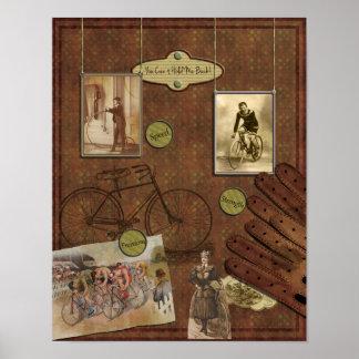 Poster del libro de recuerdos del vintage que mont