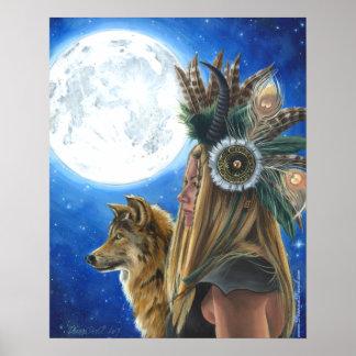 Poster del lobo del poster de Viking del poster de Póster
