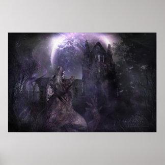 Póster Del lobo y del hombre (edición de la fantasía)