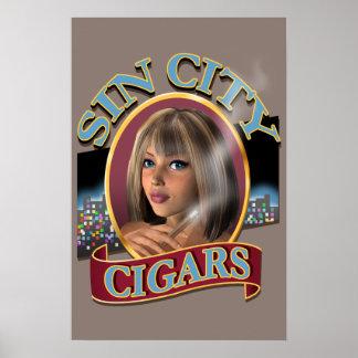 Poster del logotipo #2 de los cigarros de Sin City