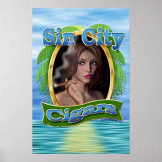 Poster del logotipo #3 de los cigarros de Sin City